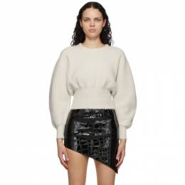 Alexander Wang Off-White Wool Pearl Necklace Sweater 1KC1203076