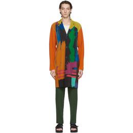 Homme Plisse Issey Miyake Multicolor Big Brush Coat HP08JD243