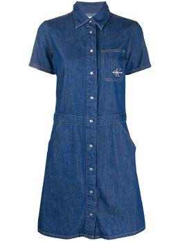 Calvin Klein Jeans джинсовое платье-рубашка J20J212868