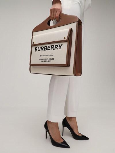 Сумка Из Кожи И Канвас С Логотипом Burberry 73ID1H028-QTEzOTU1 - 1