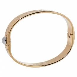 Louis Vuitton Nanogram Gold Tone Cuff Bracelet M 355392
