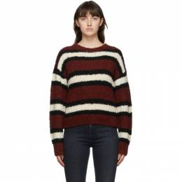 Rag&Bone Burgundy Striped Robyn Sweater WCS20FS001TT01