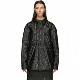 System Black Quilted Jacket SH2A9WSHT03M