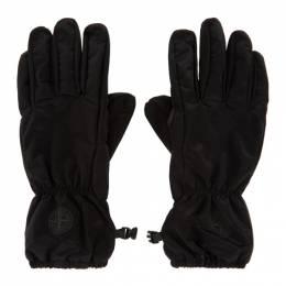 Stone Island Black Nylon Metal Gloves 731592077