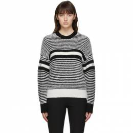 Rag&Bone White and Black Teddy Sweater WCS20HS000XN00