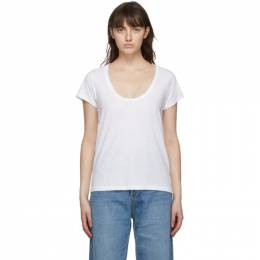 Rag&Bone White The Slub U-Neck T-Shirt W284C38CH