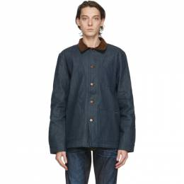 Nudie Jeans Blue Denim Barney Horse Lining Jacket 160710
