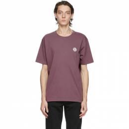 Nudie Jeans Purple NJCO Circle T-Shirt P13 Violet