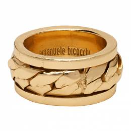 Emanuele Bicocchi Gold Chain Ring ACT6G