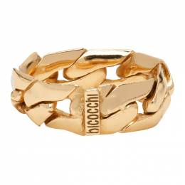 Emanuele Bicocchi Gold Soft Chain Ring ACT7G