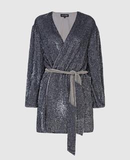 Серебристое платье Retrofete 2300006405181