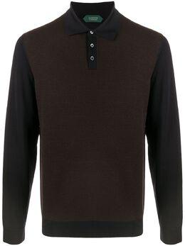 Zanone рубашка поло с длинными рукавами 812392ZM215