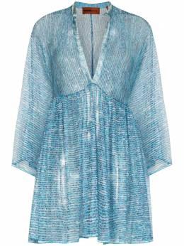 Missoni Mare полупрозрачное платье мини с вышивкой MMQ00203BT0013