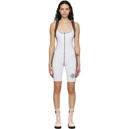 Fendi White Stretch Forever Fendi Fitness Bodysuit FAJ020 ADH7 F0ZNM