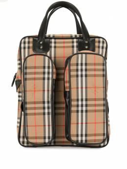 Burberry Pre-Owned сумка-тоут в клетку House Check CIRCLER