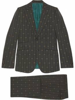 Gucci костюм-двойка Heritage в полоску с логотипом Interlocking G 630155ZAD99