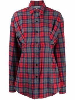 Victoria Beckham клетчатая рубашка 1420WSH002031C