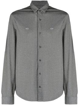 Armani Exchange рубашка с вышитым логотипом 6HZCFKZJ2SZ