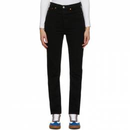 Re/Done Black 80s Slim Straight Jeans 165-3W8SS