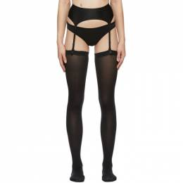 Wolford Black Satin Stocking Belt 59538