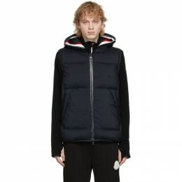 Moncler Navy Down Luberon Hooded Vest F20911A5880053333