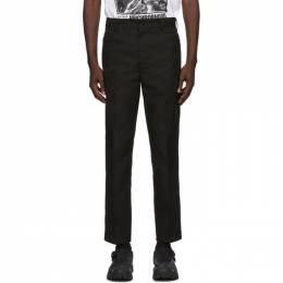 Neighborhood Black Slim Work Trousers 202SPNH-PTM04
