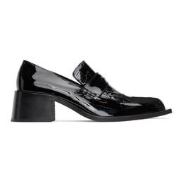 Martine Rose Black Croc Bagleys Loafers FMROMBGL1090A8