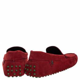 Tod's Red Suede Ferrari Limited Edition Gommino Moccasins Size 42 307790