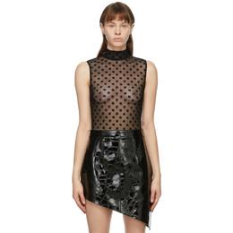 Misbhv Black Mesh Monogram Bodysuit 120W101