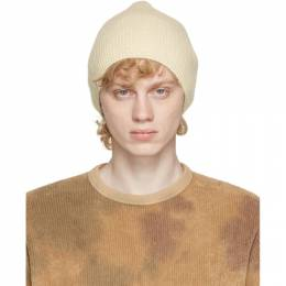 Our Legacy Off-White Wool Knitted Beanie A4203KI