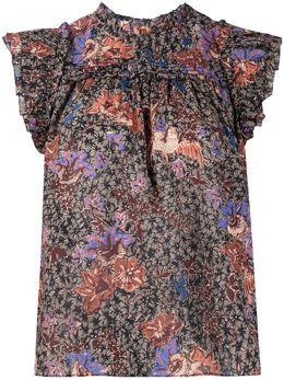 Ulla Johnson блузка Louise с цветочным принтом PS210244