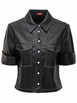 Рубашка Из Искусственной Кожи Staud 72IDPT013-QkxL0