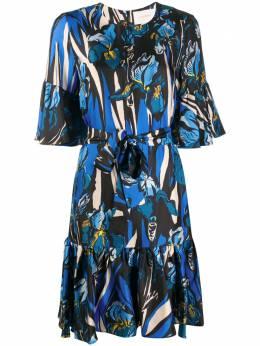 La Doublej платье мини Curly Swing DRE0200SIL001IRI0001