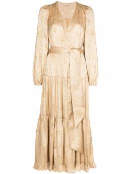 Ulla Johnson платье Helena с завязками PS210160GILDEDMETALLICSILK