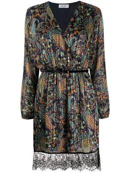 Liu Jo платье мини со сборками и узором пейсли F69012T4108