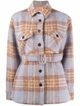 Andamane клетчатая куртка-рубашка с поясом L02J527