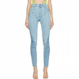 Mugler Blue Spiral Jeans 21S6PA0326247