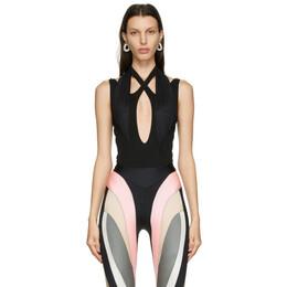 Mugler Black Crossover Bodysuit 21S1BO0132682