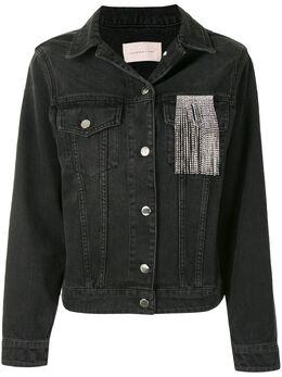 Christopher Kane джинсовая куртка с бахромой из кристаллов PF20JK776AREFERNKHOLDENIM