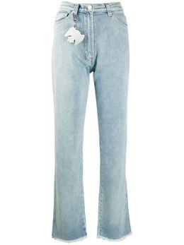 Natasha Zinko расклешенные джинсы с бахромой PF2031987
