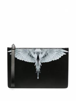 Marcelo Burlon County Of Milan клатч с принтом Wings CMNP001R21LEA0011001