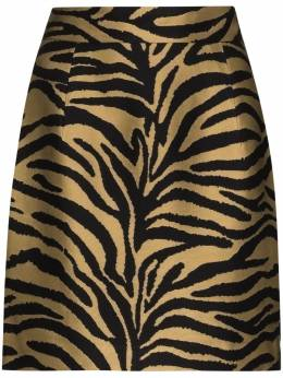 Khaite юбка мини Eiko с зебровым принтом 4043450ZEBRAVISCOSETWILL