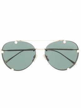 Valentino Eyewear солнцезащитные очки-авиаторы со стразами VA2045300371