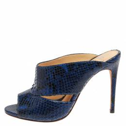 Alexandre Birman Blue Latoya Mules Size 36 357045