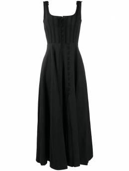Brock Collection платье макси без рукавов с оборками BRPR5016ABR005