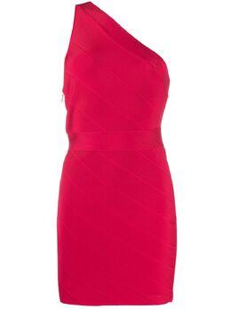 Herve Leger платье мини Icon асимметричного кроя ICO8332789