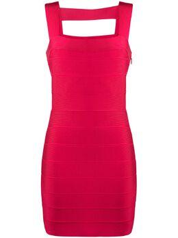 Herve Leger платье Icon с вырезами ICO8332781