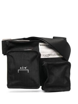 A-Cold-Wall* сумка-мессенджер с нашивкой-логотипом EQ4BG03GYACC