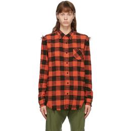R13 Red Shredded Seam Shirt R13W7546-RBW