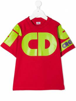 GCDS Kids футболка с логотипом 025790
